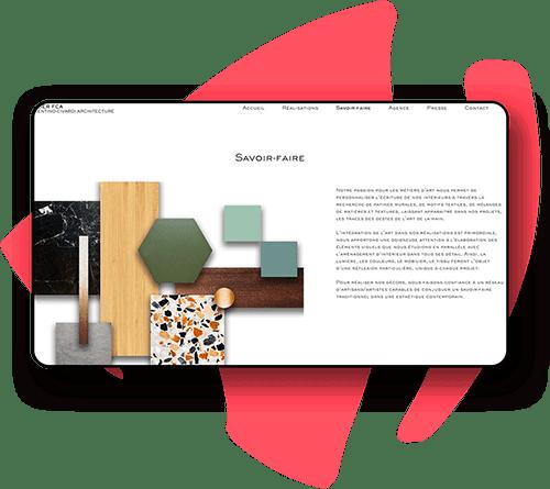 Création site internet d'architecte