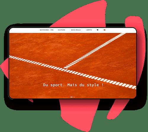 Boutique en ligne de sport