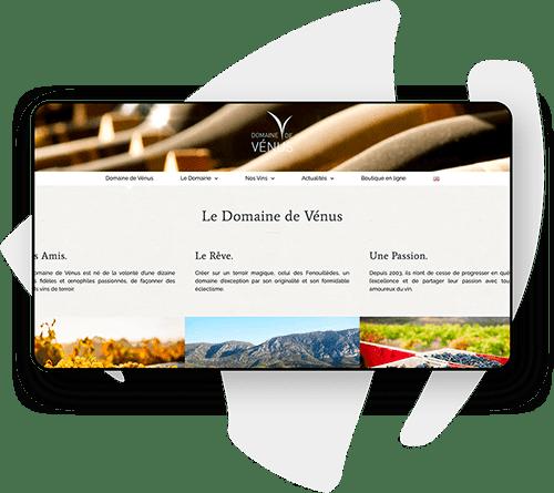 Création de site internet pour vignoble