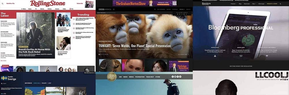 Exemples de site internet WordPress