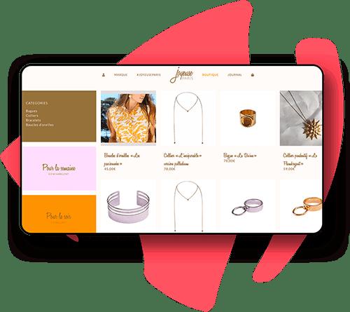 Exemple de site e-commerce bijoux