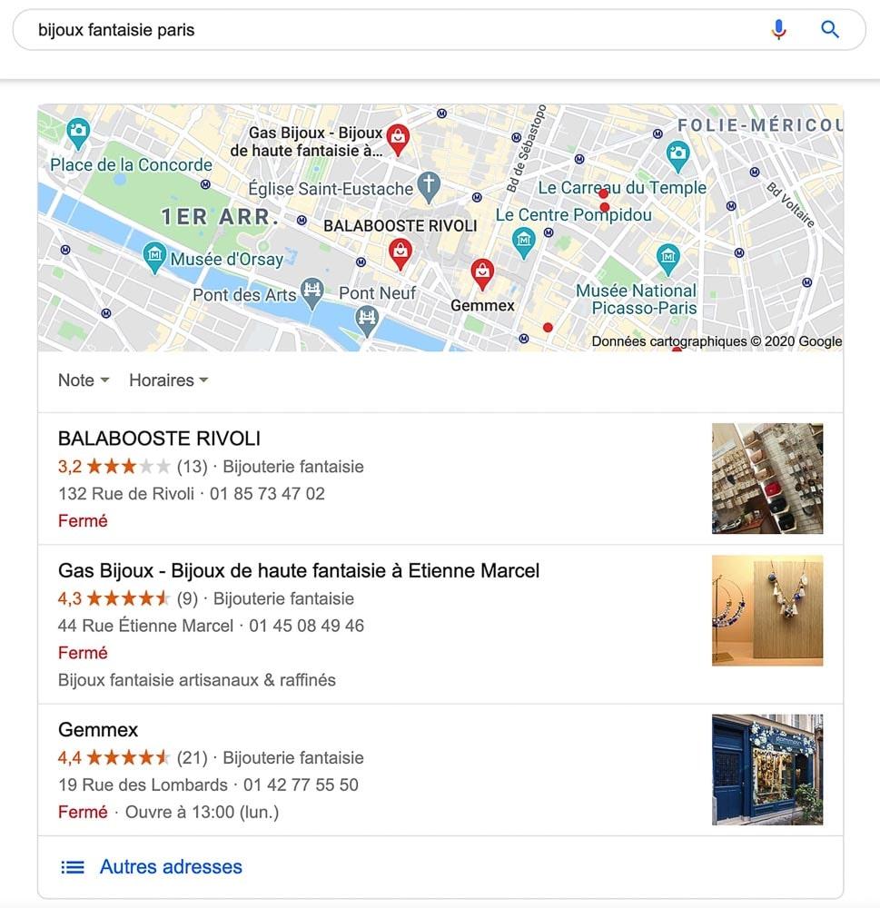 Référencement local Google