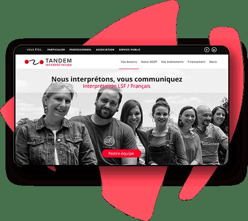 Création de site internet avec accessibilité