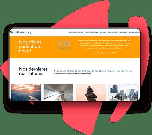 Site web pour entreprise de services